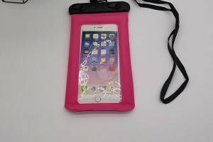 waterproof bag in pink color