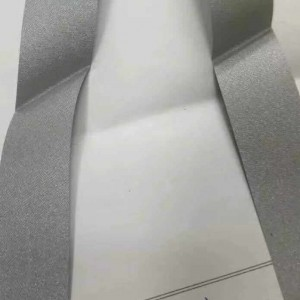 Tearable Pearl Grey Polyester Taffeta