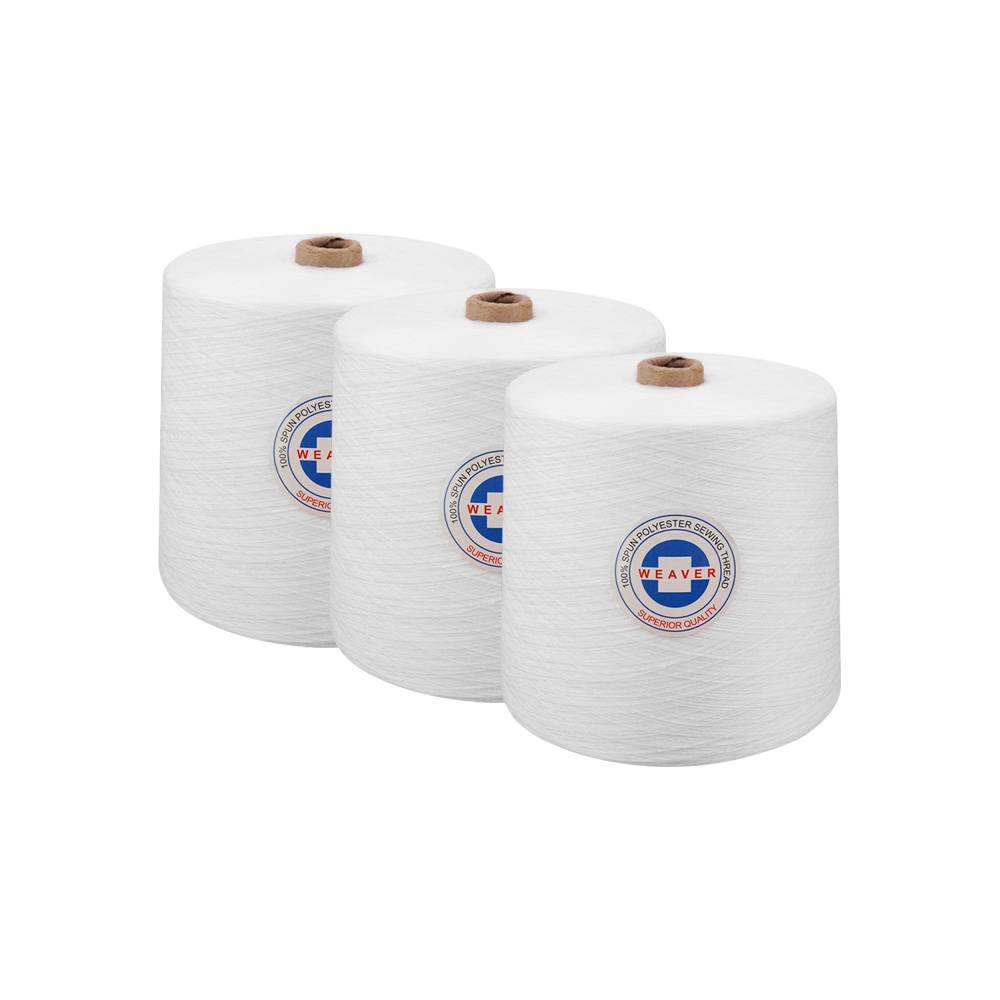 Ne 40s/2 white 100% hilo poliester polyester yarn