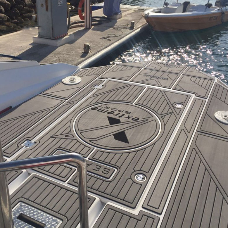 factory direct anti UV adhesive waterproof marine flooring faux teak sheet   boat yacht eva foam decking Featured Image