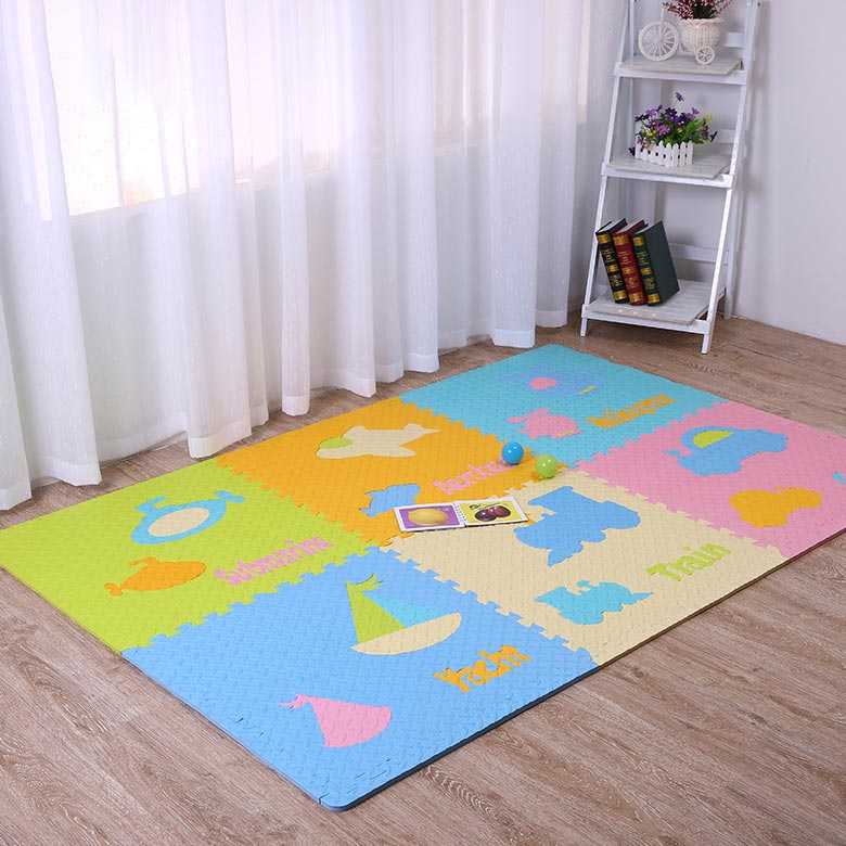 Wholesale EVA foam material baby playing mat baby crawling mat with animal shape Featured Image