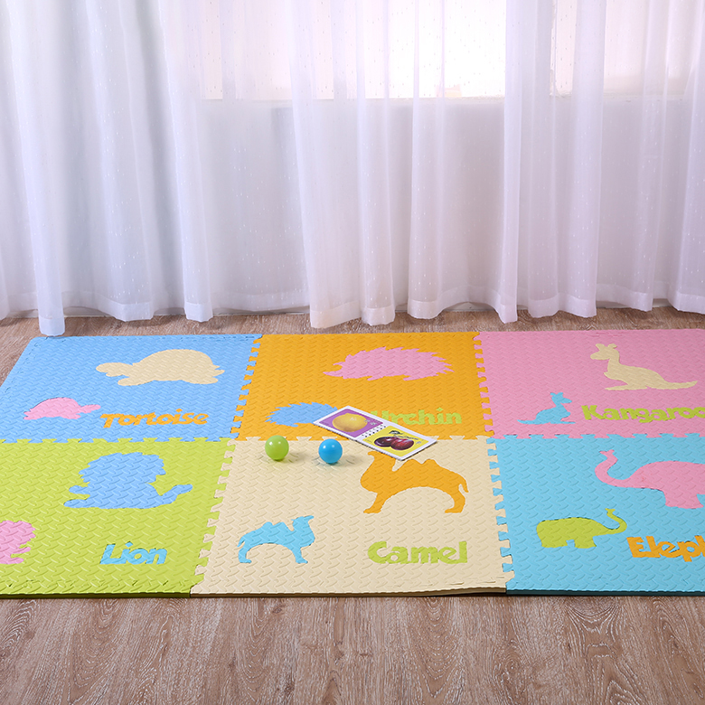 Wholesale EVA foam material baby playing mat baby crawling mat with animal shape