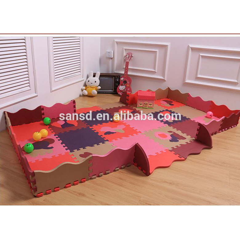 China wholesale price interlinking educational toy EVA alphabet puzzle floor baby play mat tiles