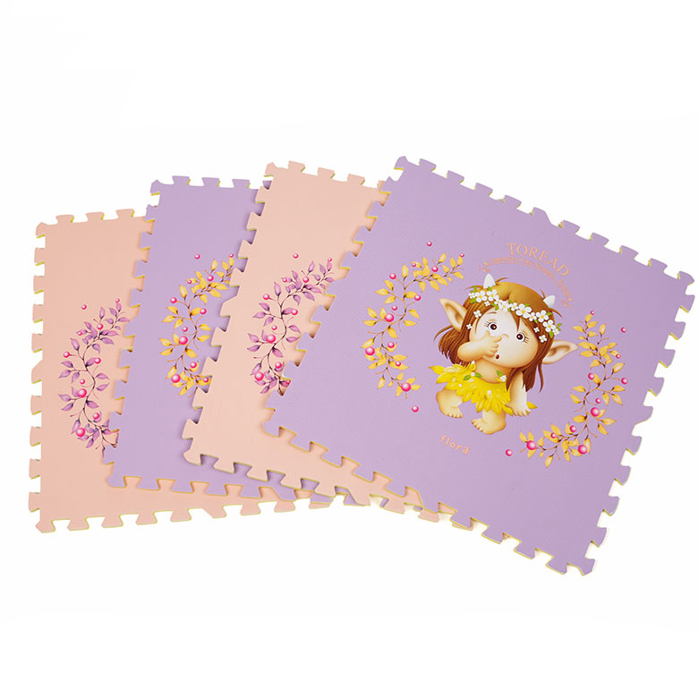 China manufacturer personalized custom design non toxic letter figure puzzle cartoon eva foam mat