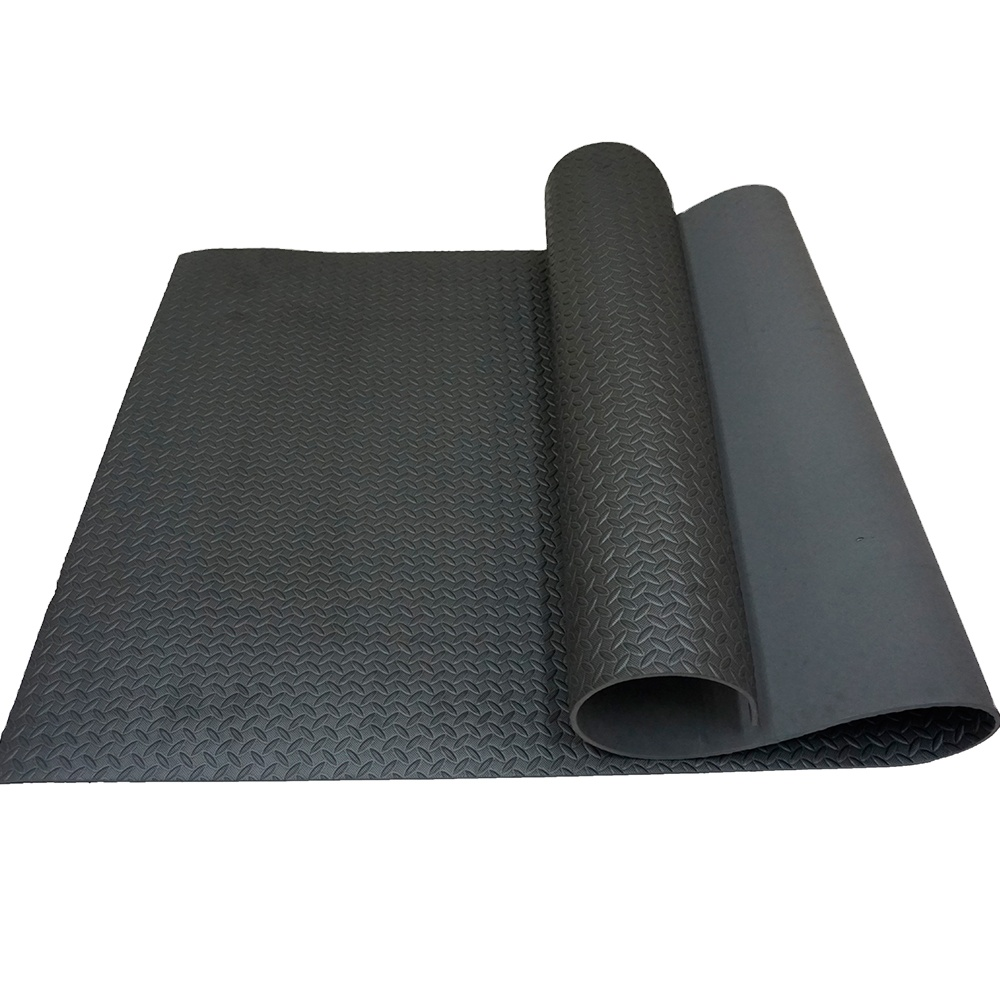 China manufacturer washable 15mm exercise floor yoga mat with non-slip