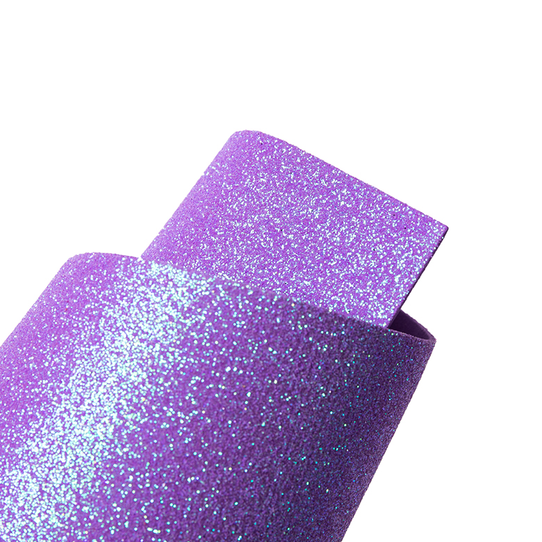 2mm thick shiny glitter bling lavender Eva foam craft sheets  for teachers school projects scrapbooking and DIY gifts