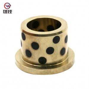 Drilling Hole Flaged Bronze Bearing