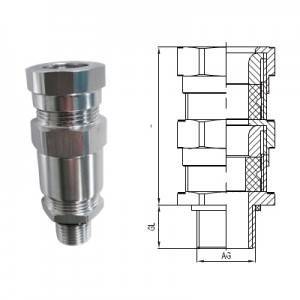 Flame-proof Metal Cable Gland for Armored Cable (Metric/ NPT thread