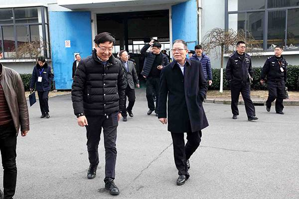 Leader of Hangtou Town Came to Weyer Electric to carried out safety inspection before the Spring Festival