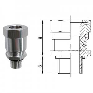 Flame-proof Metal Cable Gland with Single Seal for Armored Cable (Metric/ NPT thread)