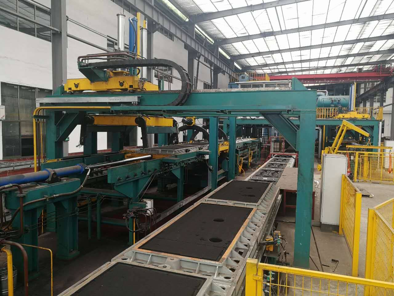 Fault diagnosis steps of hydraulic system of automatic moulding machine