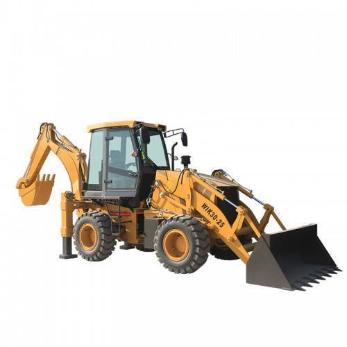 What should backhoe loader focus on when cleaning?