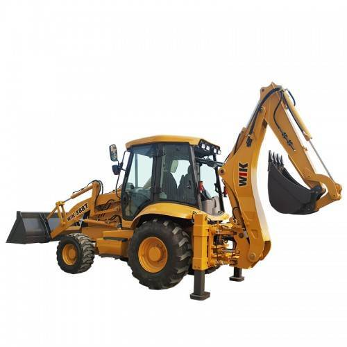 The main structural features and advanced technology used in the WIK388T backhoe loader