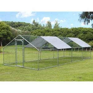 Outdoor Farm Steel Structure For Large Chicken House 8x3x2m