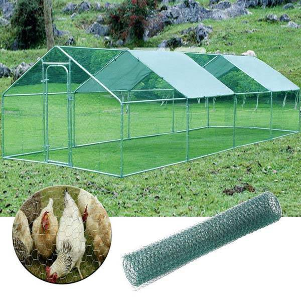 Outdoor Farm Steel Structure For Large Chicken House 8x3x2m Featured Image