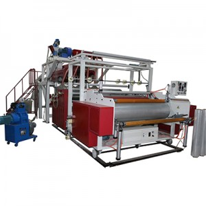 High speed five or three layer stretch film machine