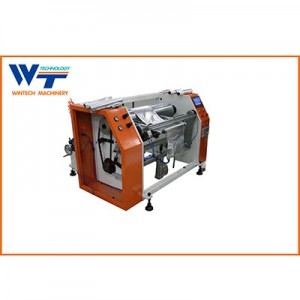 Semi automatic aluminum foil rewinding machine