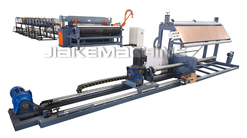 Welded mesh machine loading