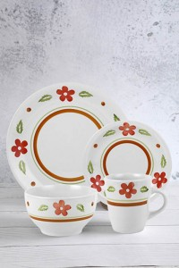 16-piece hand-painted porcelain set