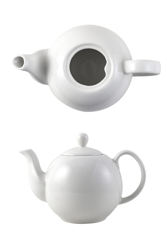 Anti-falling Lid Design British Porcelain Teapot