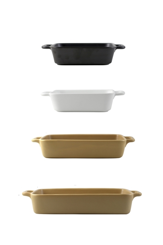 Matte color glaze ceramic bakeware