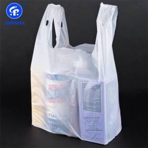 Plastic T-shirt Shopping Bag