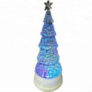 Colorful merry indoor decoration Acrylic led lighted crystal Christmas tree