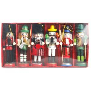 Wholesale Navidad China factory custom Indoor Tabletop and hanging Wooden Christmas Nutcracker set
