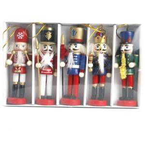 Wholesale Christmas indoor and car hangers, Wooden nutcracker ornament craft