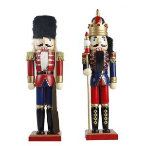 Handmade wholesale antique Christmas gift, indoor wooden nutcracker doll for sale