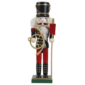 Vintage home decor Hand painted custom wooden toy soldier nutcracker for Christmas decoration