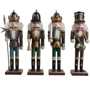 Hot sell amazon cascanueces de navidad wooden carving toy nutcracker soldier ornament