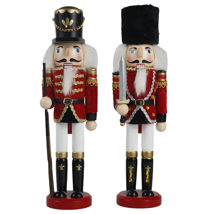 Wholesale tabletop Traditional Puppet Wooden soilder nutcracker figures Christmas decorations Featured Image