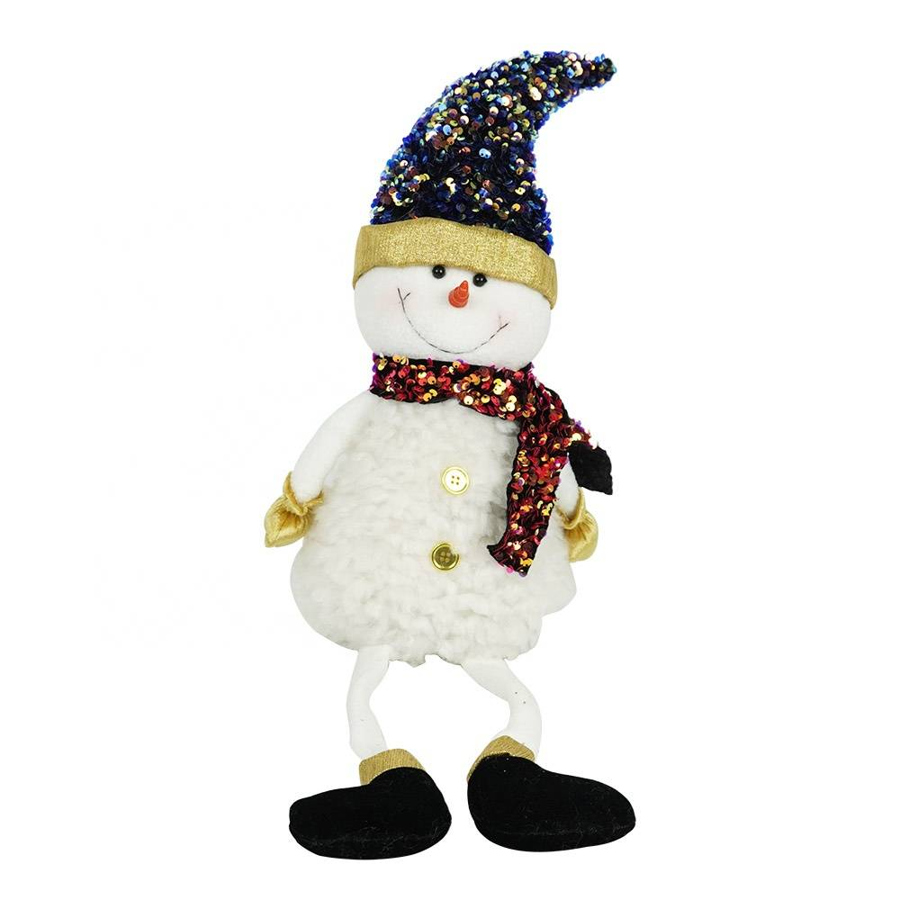 New arrive Christmas desk and window decor noel fabric sitting snowman for kids gift