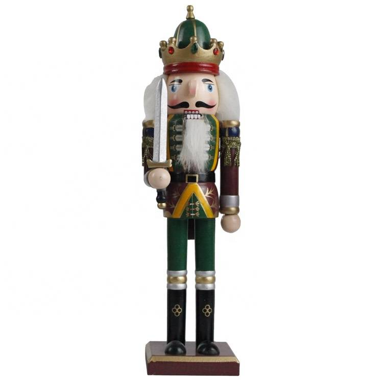 BSCI factory OEM hand painted Wholesale wood nutcracker solider for Christmas Decoration