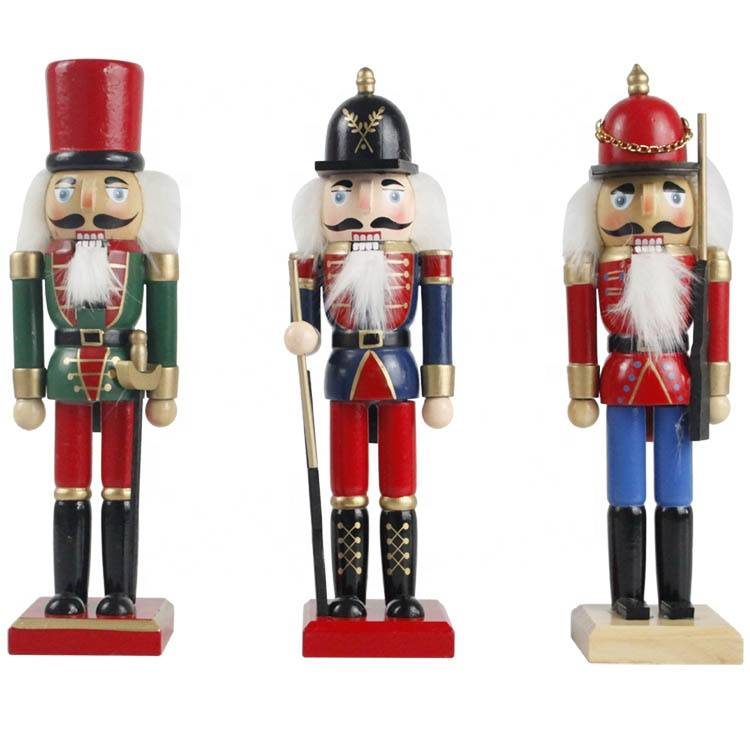 New arrive indoor decor Custom Small tabletop Christmas doll wooden soldiers nutcracker