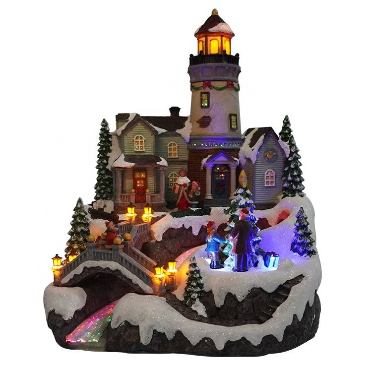 New design battery operated warm light polyresin cookie shop ornaments with LED