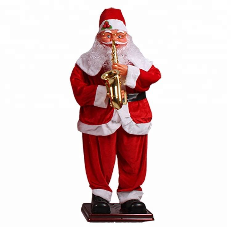 Christmas outdoor decoration Big size musical dancing Santa Clause figurines Featured Image