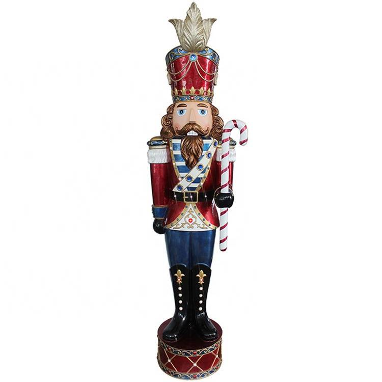 Cheap PriceList for Large Christmas Nutcrackers - Giant resin mult led lights life size musical nutcracker decoration with Led – Melody