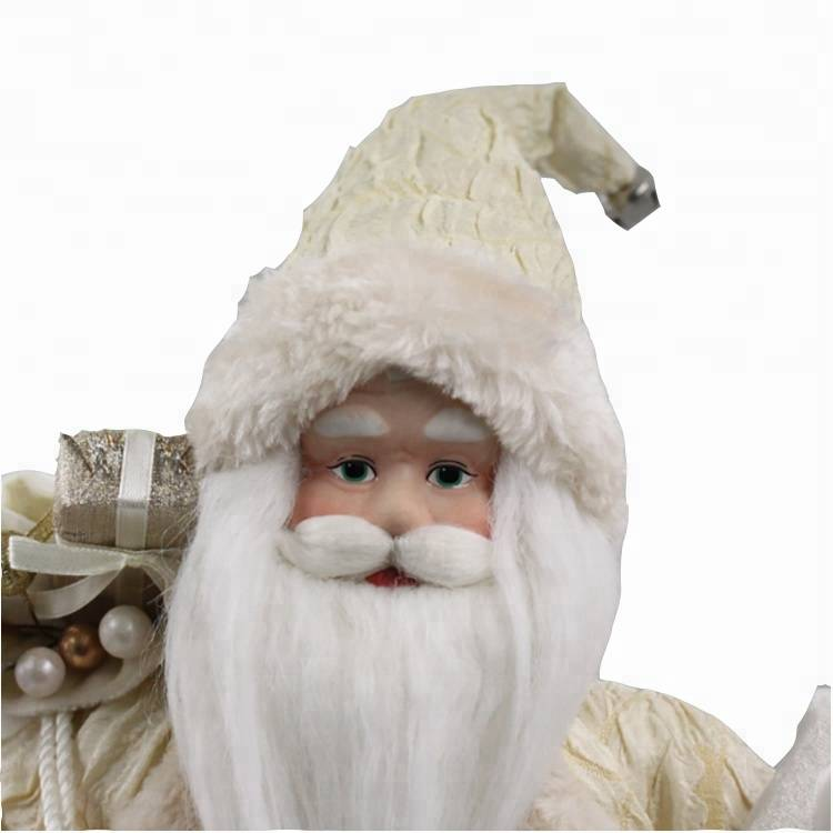 Customized Christmas gift fabric stuffed Santa Clause figure plush toy