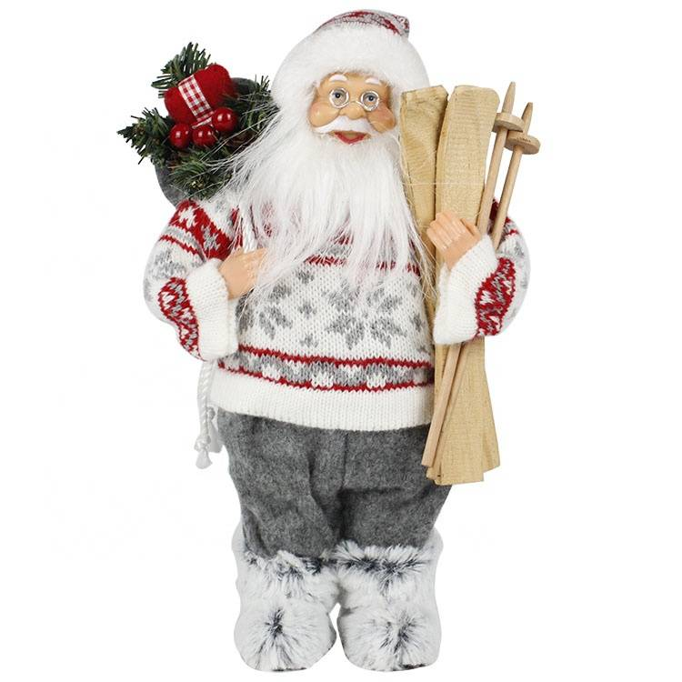 Wholesale 2019 Custom noel Fabric figurine figure decor Christmas santa claus