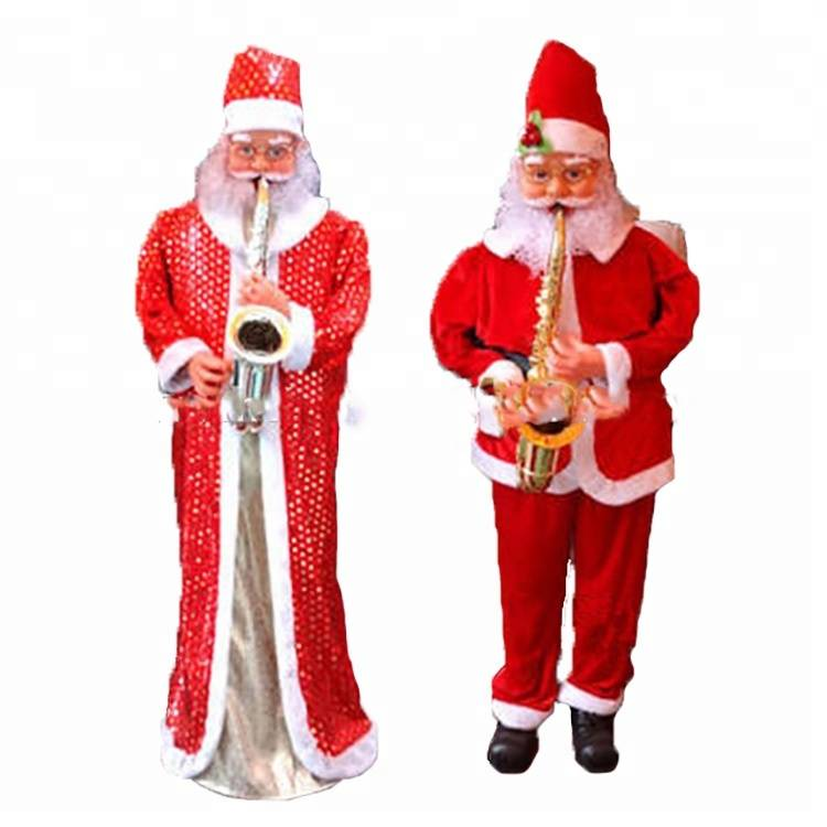 Animated outdoor Life size music santa claus decoration for Christmas