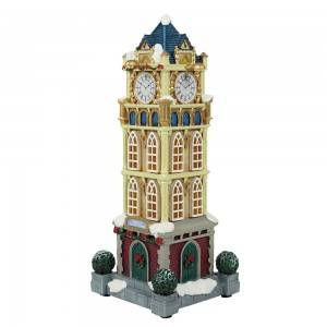 Custom made indoor tabletop Led light up resin Wendy clock tower figurine Christmas decoration