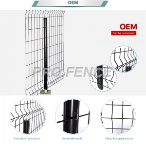 3D Curved welded wire fence, popular weld mesh fence as safety fencing of residential in North American
