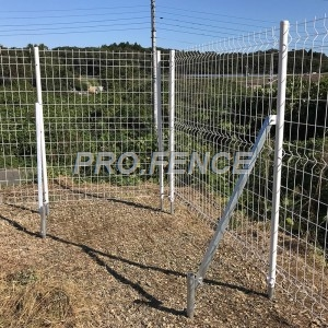M-shaped Galvanized Welded Mesh Fence For Solar Plants