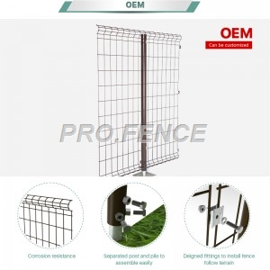C-shaped Powder Coated Welded Mesh Fence For Power Plants