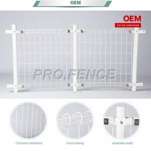 Double circle Powder Coated Wire Mesh Fence for Municipal engineering