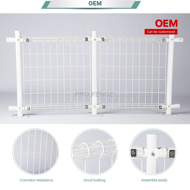 Double circle Powder Coated Wire Mesh Fence for Municipal engineering Featured Image