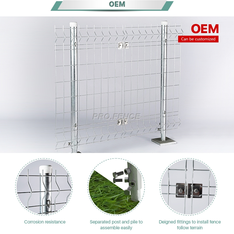 M-shaped Galvanized Welded Mesh Fence For Solar Plants Featured Image