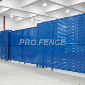 Perforated metal fence panel for architectural application